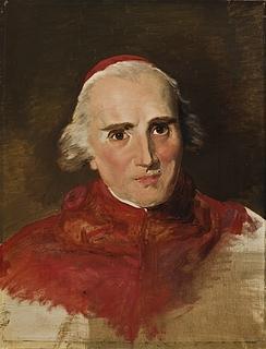 Filippo Agricola: Portræt af kardinal Ercole Consalvi, 1819 - Copyright tilhører Thorvaldsens Museum