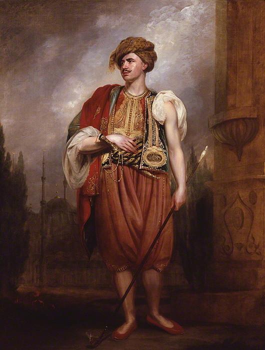Sir William Beechey: Portæt af Thomas Hope i tyrkisk dragt, 1798