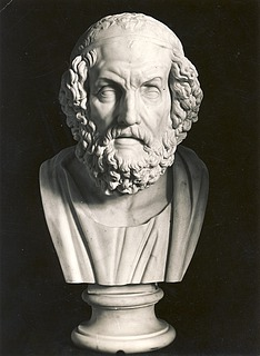 Bertel Thorvaldsen: Homer, c. 1805-1810, marble, whereabouts unknown, photo 1927