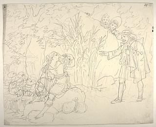 Cardenio, præsten og barbereren møder Dorotea