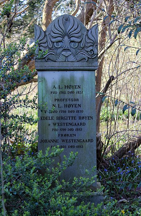N.L. Høyen, gravmæle