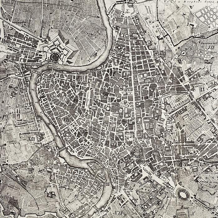 Pietro Ruga: Pianta topografica della città di Roma dell' anno 1820