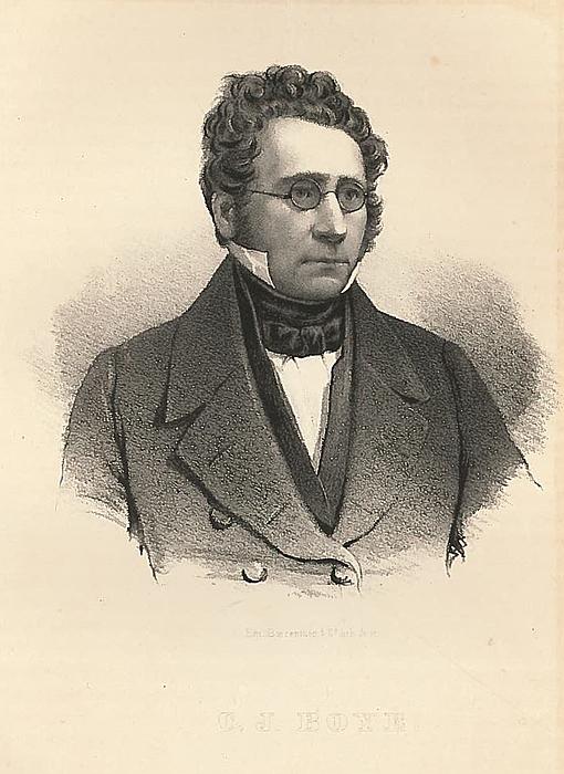 Em. Bærentzen: C.J. Boye, 1843