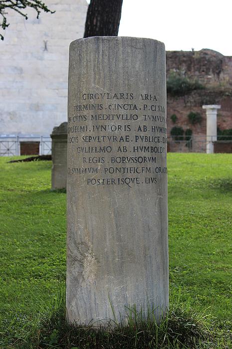 Gravmæle for W. Humboldt, junior, Cimitero Acattolico