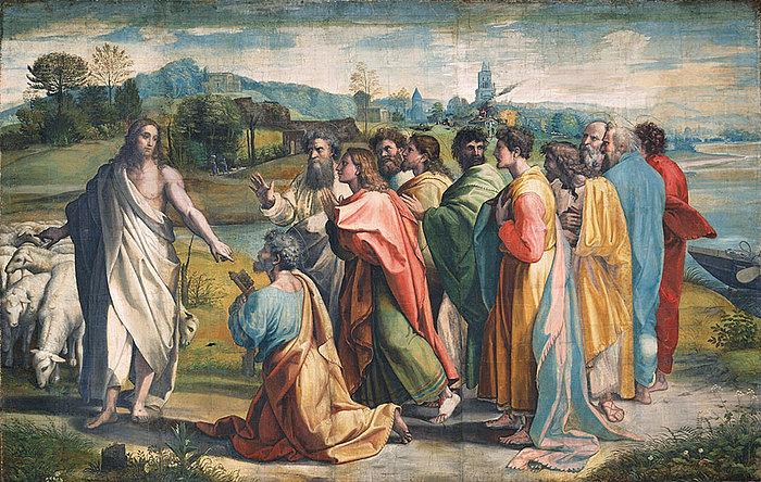 Rafael: Kristus overrækker Peter nøglerne