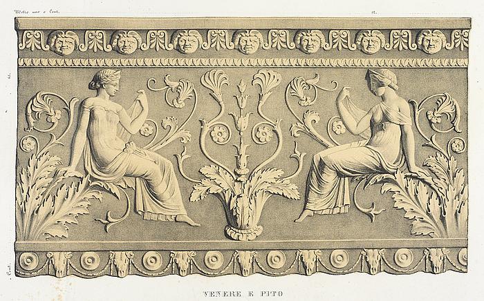 Venere e pito, efter Giovanni Pietro Campana: Antiche opere in plastica, Rom, 1842, planche XIII