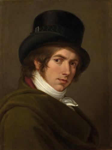 Pietro Benvenuti: Selvportræt med cylinderhat, 1802