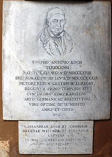 Gravmæle for J.A. Koch, Campo Santo Teutonico