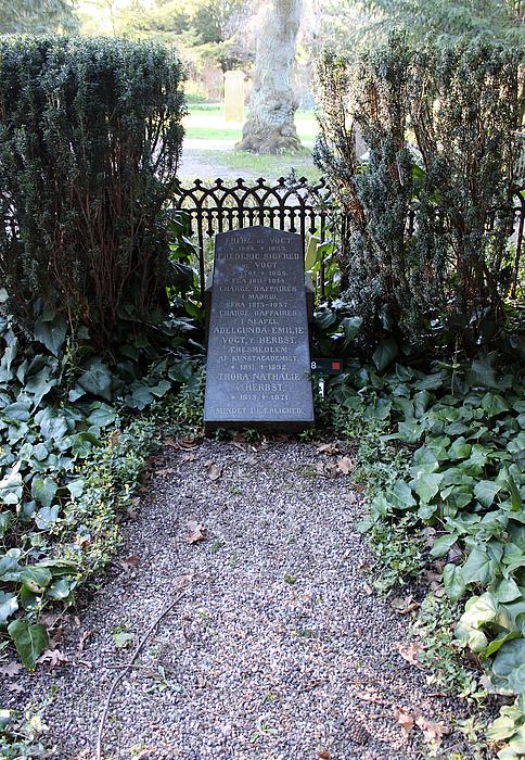 F.S. Vogt, gravmæle