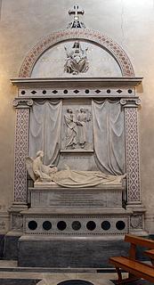 Ferdinand Pettrich: Gravmæle Bartolommeo Pacca, 1863, Santa Maria in Portico in Campitelli, Rom