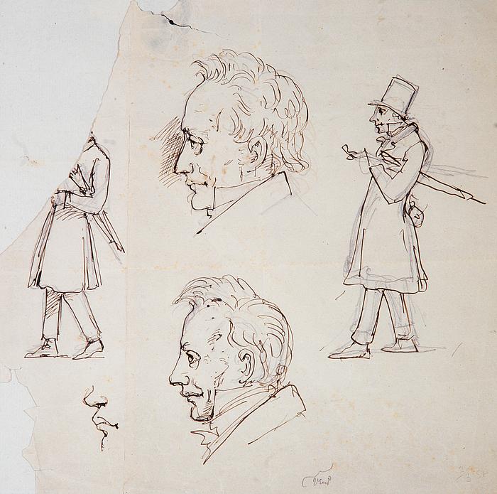 W. Marstrand: Karikaturtegning af Søren Kierkegaard