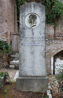 Gravmæle for J.A. Krafft, Cimitero Acattolico