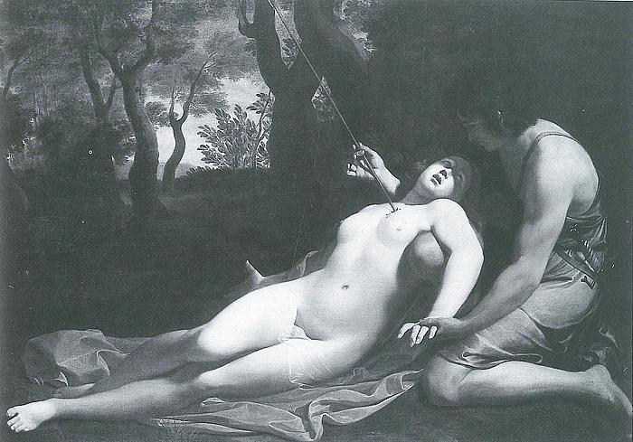Tilskrevet Guido Reni, Procris's død.