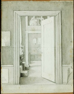 C.W. Eckersberg: Interior from the Artist's Residence at Charlottenborg. Unknown location, photo Bruun Rasmussen