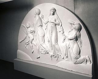Bertel Thorvaldsen: Gravmæle over de to Poninski-søskende, 1835 - Copyright tilhører Thorvaldsens Museum