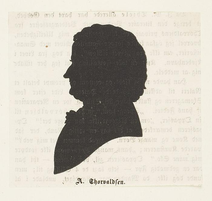 Portræt af Thorvaldsen, silhouet