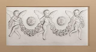 Bertel Thorvaldsen: Svævende engle med guirlander og rosetter, formodentlig 1830'erne, Vor Frue Kirke, København