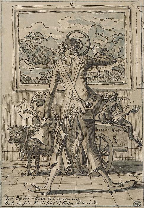 J.C. Reinhart: Karikatur af Ludwig Schorn, 1833