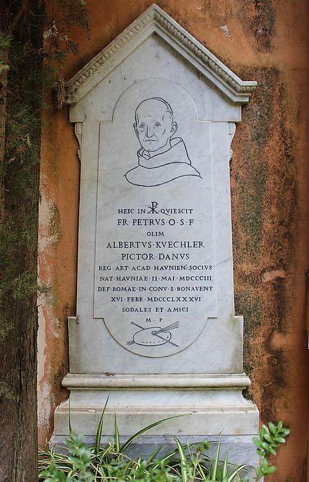 Gravmæle for Albert Küchler, Campo Santo Teutonico