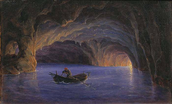 Den blå grotte på Capri