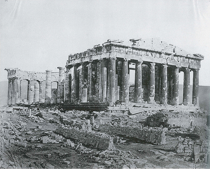 James Robertson: Parthenon set fra nordvest, 1853-54