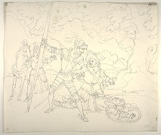 Don Quixote og Sancho Panza genkender Simson Carrasco