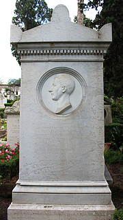 Gravmæle for August Kestner, Cimitero Acattolico
