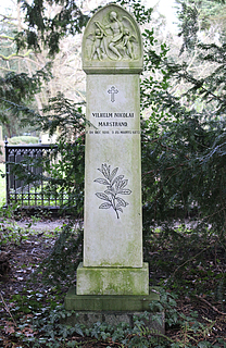 Vilhelm Marstrand, gravmæle, Assistens Kirkegård, København