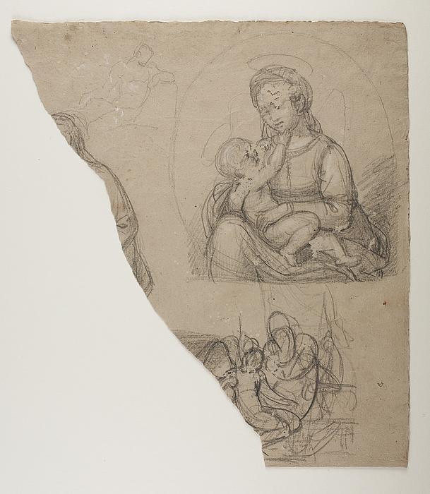 Maria med barnet. Amor hos Anakreon. Mandlig model (?)