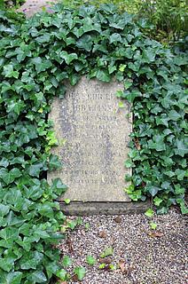 Gravmæle, N.C.L. Abrahams, Holmens Kirkegård, foto 2020