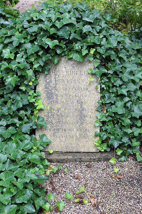 Gravmæle, N.C.L. Abrahams, Holmens Kirkegård