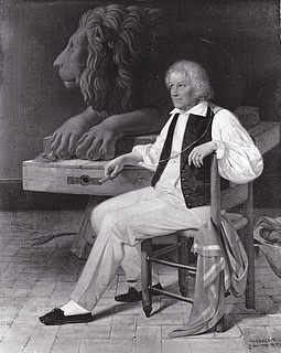 Ditlev Blunck, Thorvaldsen in his Roman studio, 1837
