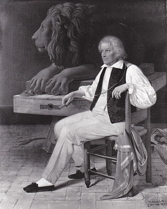Ditlev Blunck, Thorvaldsen i sit romerske atelier 1837