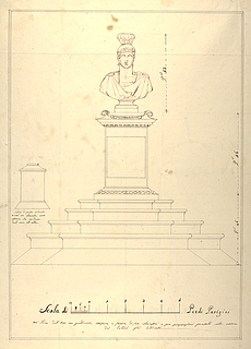 Monument with Roman Warrior Bust, Proposal for Elevation