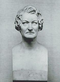 Antagelig George Rennie og Thorvaldsen: Thorvaldsen, marmor, 61,3 cm, 1830, G273. Deponeret på Jenisch Haus, Altona