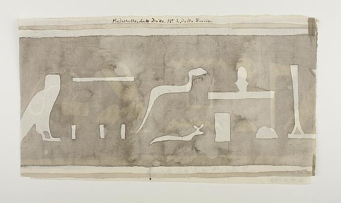 Hieroglyfindskrift, andet brudstykke fra forsidens højre side