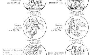 Fortegnelse over de i Bing & Grøndahls Porcellainsfabrik i Biscuit udførte Figurer & Basreliefs efter _Thorvaldsen fremstillede i Omrids med angivne Størrelser og vedføiede Priser, København, uden år