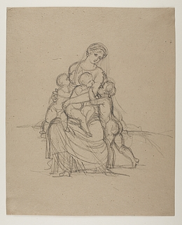 Bertel Thorvaldsen: Caritas, kvinde med tre børn, 1802-3 (Copyright tilhører Thorvaldsens Museum)