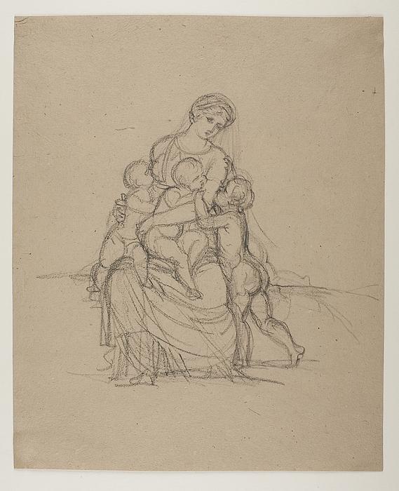 Caritas, kvinde med tre børn