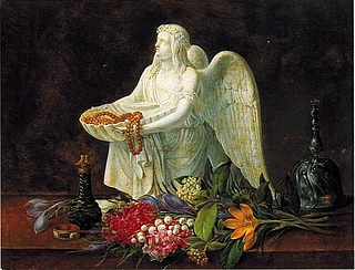 Christine Løvmand, Opstilling med Thorvaldsens Dåbens engel, privateje