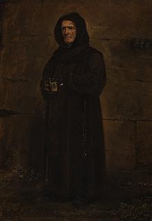 Ernst Meyer: En franciskanermunk med en tiggerskål - Copyright tilhører Thorvaldsens Museum