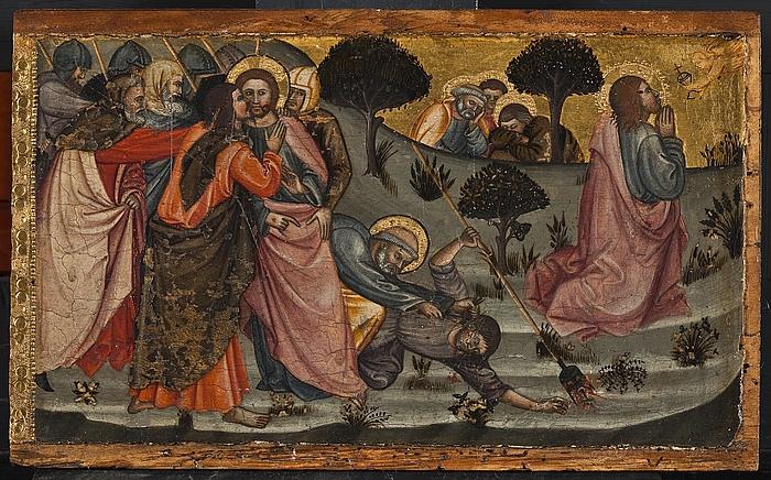 Kristus i Gethsemane fra predella med fremstillinger af Maria Magdalena, Kristus i Gethsemane, Korsfæstelsen, Opstandelsen og Sankt Catharina