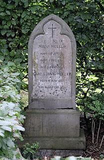 Ludvig Müller, grav, Assistens Kirkegård i København