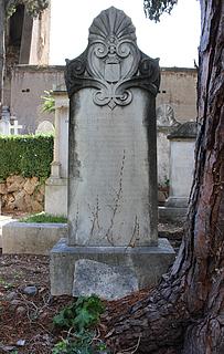 Gravmæle for F.W. Lepel, Cimitero Acattolico
