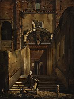 Sideopgangen fra Capitol til S. Maria in Aracoeli i Rom