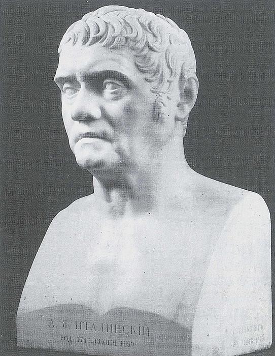 Samuil Hallberg: A. J. Italinskij (1743-1827), den russiske gesant i Napoli og Rom, 1823