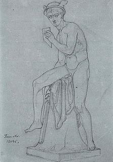 Constantin Hansen: Merkur. Efter Thorvaldsens skulptur, ca. 1828