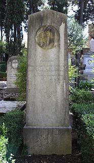 Gravmæle for J. Bravo, Cimitero Acattolico