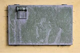 Mindeplade for C.F. Harsdorff, Assistens Kirkegård