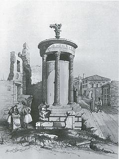 Henry Cook: Lysikrates Monumentet, 1850 - Copyright tilhører Benaki Museet, Athen